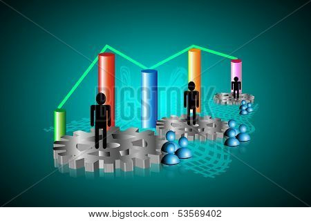 Abstract Business report graphics background