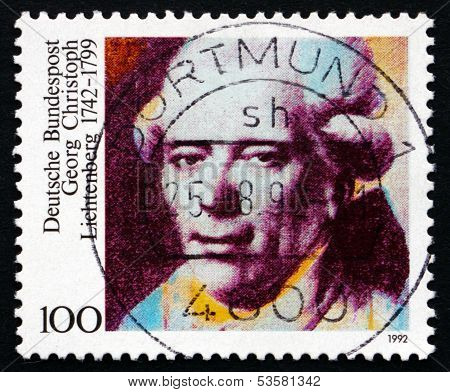 Postage Stamp Germany 1992 Georg Christoph Lichtenberg, Physicist