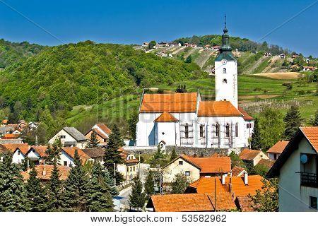 Village Of Remetinec In Zagorje