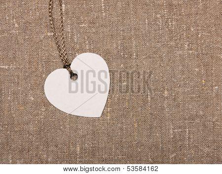 heart shape label tag
