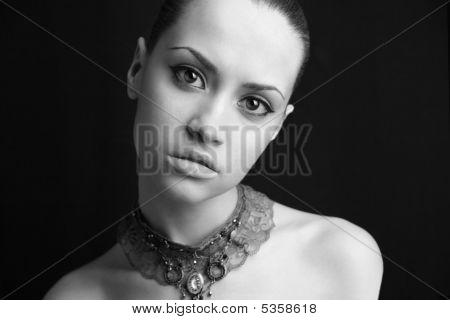 Portrait Of Beauty Girl.