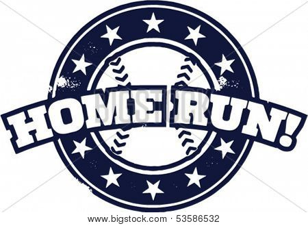 Baseball Home Run Stamp