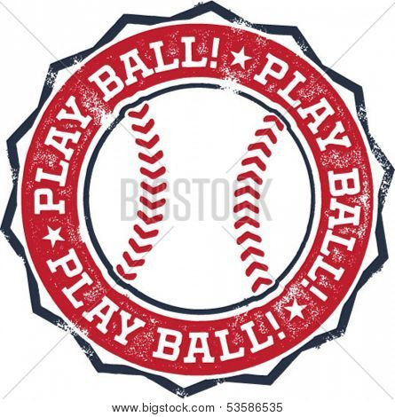 Play Ball! Baseball or Softball Stamp