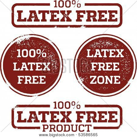 Latex Free Product Labels