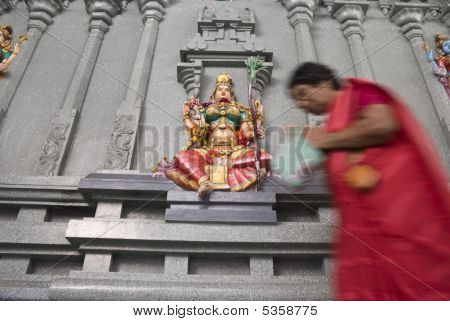 Worshipping Lakshmi