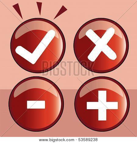 four different symbols