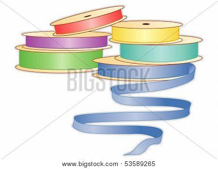 Satin Ribbons, Pastels