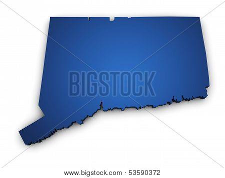 Map Of Connecticut 3D Shape
