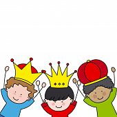 image of three kings  - Christmas card - JPG