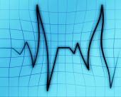 stock photo of blue-screen-of-death  - Heart monitor on a soft blue background - JPG