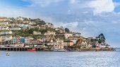 stock photo of dartmouth  - Kingswear ferry crossing to Dartmouth n Devon - JPG