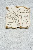 pic of sundial  - Sundial on the Wall of Italian Building - JPG