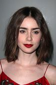 LOS ANGELES - NOV 7:  Lily Collins at the Flaunt Magazine November Issue Party at Hakkasan on Novemb