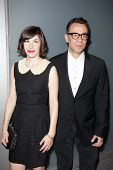 LOS ANGELES - NOV 7:  Carrie Brownstein, Fred Armisen at the Flaunt Magazine November Issue Party at
