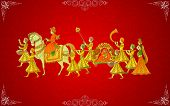 stock photo of indian culture  - easy to edit vector illustration of Indian Wedding Card - JPG