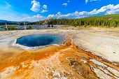 Crested Pool Geyser, Yellowstone National Park (upper Geyser Basin), Wyoming