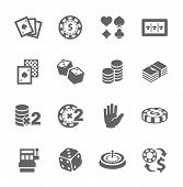 stock photo of poker machine  - Simple set of gambling related vector icons for your design - JPG