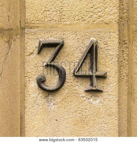 Number 34