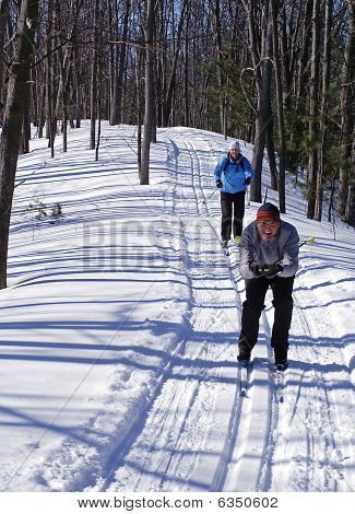 Pareja Cross Country Ski