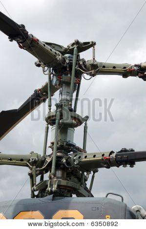 Eje de rotor de helicópteros