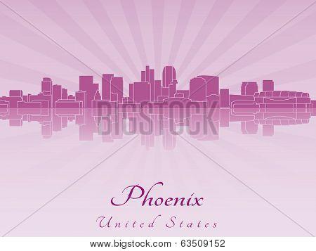 Phoenix Skyline In Purple Radiant Orchid