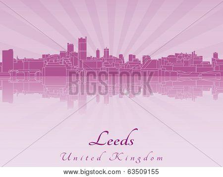 Leeds Skyline In Purple Radiant Orchid
