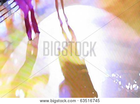 Ballroom dance floor abstract sixteen digital painting