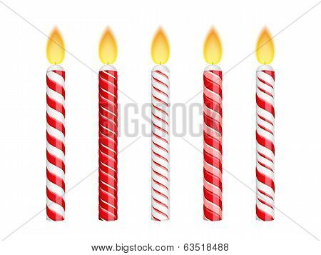 Red Birthday Candles