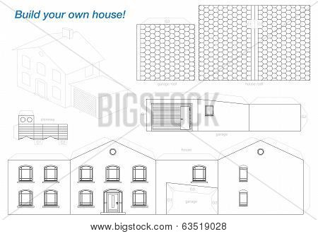 Paper Model House Outline