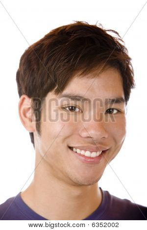 Happy Asian Student Is Smiling Confident