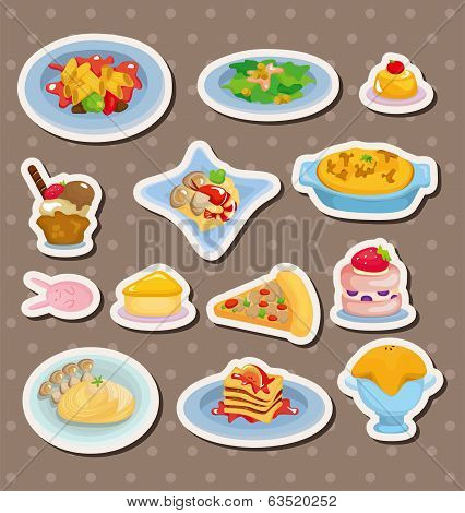 Cartoon Italian Food Stickers