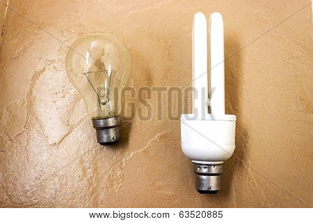technology shift from incandescent lamp to compact fluorescent lamp (CFL)