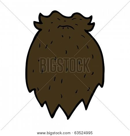 cartoon fake beard