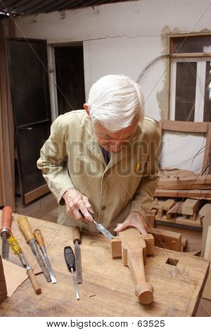 Carpenter With Chiesel