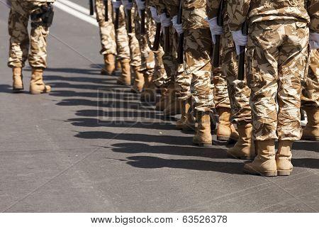 Soldier Walking Towards Camera