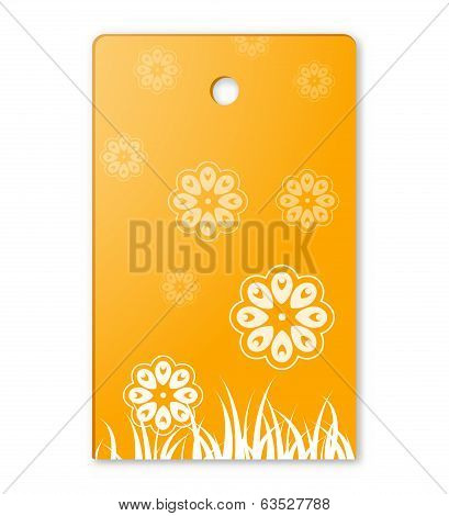 The Flower Theme Label