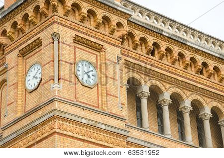 Clock Tower Of The Hannover Central Station