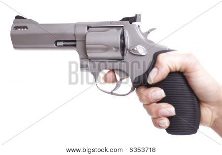 Woman Hand With Revolver