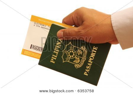 Hand With Passport