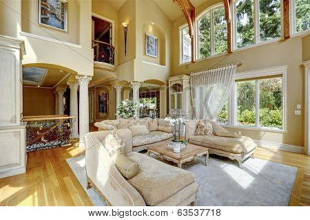 Luxury House Interior. Living Room
