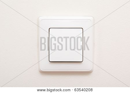 Modern Light Switch On White Wall