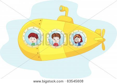 Cartoon yellow submarine