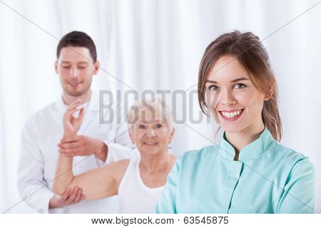 Female Therapist Smiling
