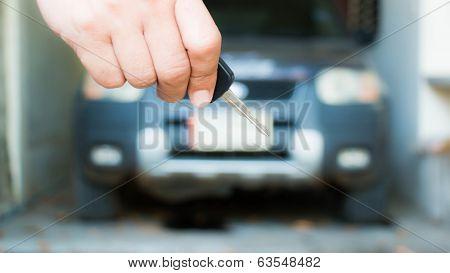 Key Car In Hand