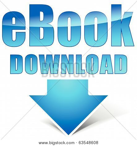 Vector E-book Download Icon