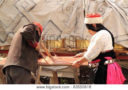 Tibetan couple life