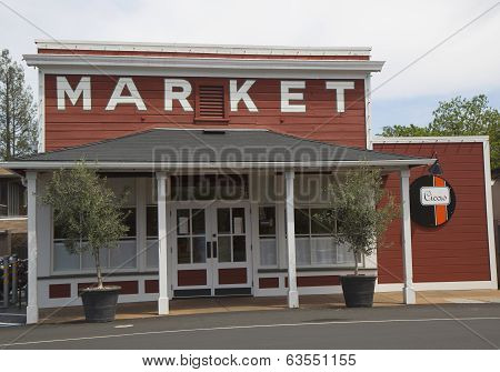 Local market in  Yountville, Napa Valley