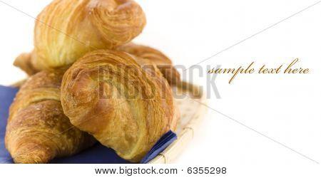 Basket Of Fresh Croissant