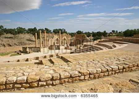 Amphitheater At Sbeitla