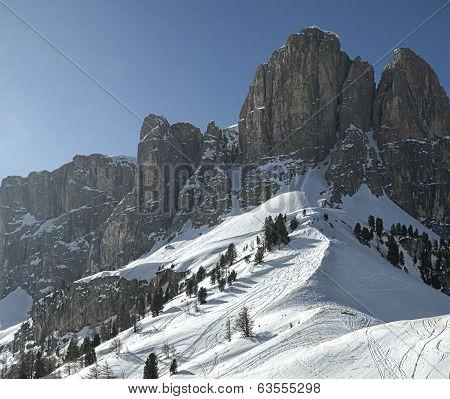 Sella Group, View From Gardena Pass - Dolomiti